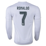 Real Madrid 15/16 RONALDO LS Home Soccer Jersey