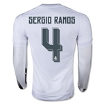 Real Madrid 15/16 SERGIO RAMOS LS Home Soccer Jersey