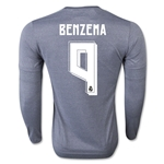 Real Madrid 15/16 BENZEMA LS Away Soccer Jersey