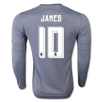 Real Madrid 15/16 JAMES LS Away Soccer Jersey