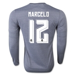Real Madrid 15/16 MARCELO LS Away Soccer Jersey