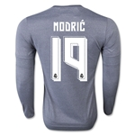 Real Madrid 15/16 MODRIC LS Away Soccer Jersey