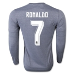 Real Madrid 15/16 RONALDO LS Away Soccer Jersey