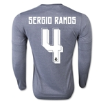 Real Madrid 15/16 SERGIO RAMOS LS Away Soccer Jersey