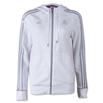 Real Madrid Women's 3 Stripe Full Zip Hoody