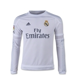 Real Madrid 15/16 LS Youth Home Soccer Jersey