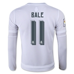Real Madrid 15/16 BALE LS Youth Home Soccer Jersey