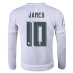 Real Madrid 15/16 JAMES LS Youth Home Soccer Jersey
