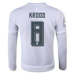 Real Madrid 15/16 KROOS LS Youth Home Soccer Jersey