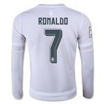 Real Madrid 15/16 RONALDO LS Youth Home Soccer Jersey