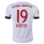 Bayern Munich 15/16 GOTZE Youth Away Soccer Jersey