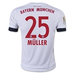 Bayern Munich 15/16 MULLER Youth Away Soccer Jersey