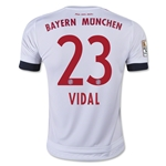 Bayern Munich 15/16 VIDAL Youth Away Soccer Jersey