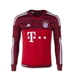 Bayern Munich 15/16 LS Youth Away Goalkeeper Jersey