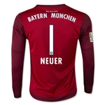 Bayern Munich 15/16 NEUER LS Youth Away Goalkeeper Jersey