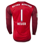Bayern Munich 15/16 NEUER LS Away Goalkeeper Jersey