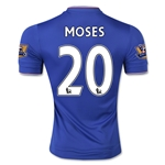 Chelsea 15/16 MOSES Authentic Home Soccer Jersey