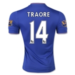 Chelsea 15/16 TRAORE Authentic Home Soccer Jersey