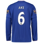 Chelsea 15/16 AKE LS Home Soccer Jersey