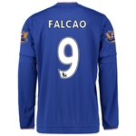 Chelsea 15/16 FALCAO LS Home Soccer Jersey