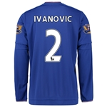 Chelsea 15/16 IVANOVIC LS Home Soccer Jersey