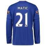 Chelsea 15/16 MATIC LS Home Soccer Jersey