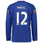 Chelsea 15/16 MIKEL LS Home Soccer Jersey
