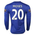 Chelsea 15/16 MOSES LS Home Soccer Jersey