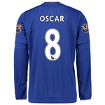 Chelsea 15/16 OSCAR LS Home Soccer Jersey