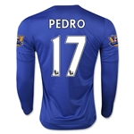 Chelsea 15/16 PEDRO LS Home Soccer Jersey