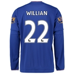 Chelsea 15/16 WILLIAN LS Home Soccer Jersey