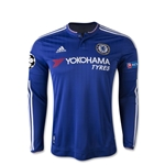Chelsea 15/16 UCL LS Youth Home Soccer Jersey