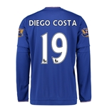 Chelsea 15/16 DIEGO COSTA LS Youth Home Soccer Jersey