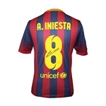 Andres Iniesta Signed Barcelona 13/14 Jersey