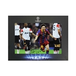 Official UEFA Champions League Messi Signed Photo in Deluxe Packaging 2011 Champions League Final Goal Celebration