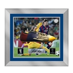 Official UEFA Champions League Messi Signed, Framed F5 Cleat
