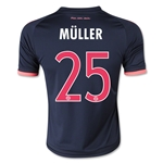 Bayern Munich 15/16 MULLER Youth Third Soccer Jersey