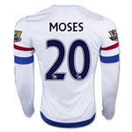 Chelsea 15/16 MOSES LS Away Soccer Jersey
