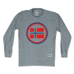 Objectivo Norway Vintage Crest Soccer Long Sleeve T-Shirt (Gray)