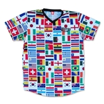 Objectivo World Cup 2014 32 Flags Soccer Jersey (White)