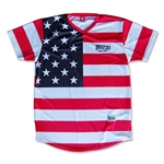 Objectivo American Flag #76 Sublimated Soccer Jersey (Red)