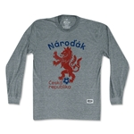 Objectivos Czech Republic Narodak Lion Long Sleeve T-Shirt (Gray)