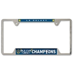 LA Galaxy MLS Cup 2014 Winner Metal License Frame