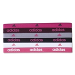 adidas Women's 6 Pack Pink Sidespin Hairbands (Pink)