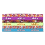 adidas Women's 6 Pack Sidespin Graphic Hairbands (Neon Orange)