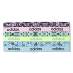 adidas Women's 6 Pack Sidespin Graphic Hairbands (Pink)