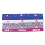 adidas Women's 6 Pack Sidespin Graphic Hairbands (Sv/Nv)