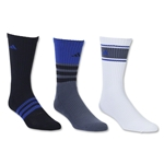 adidas Youth Cushioned Assorted Color 3-Pack Cre (Roy/Blk)