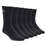 adidas Youth Graphic 6-Pack Crew Sock (Black)
