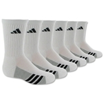 adidas Youth Graphic 6-Pack Crew Sock (Wh/Bk)